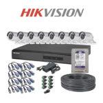 Kit Seguridad Hikvision 8×8