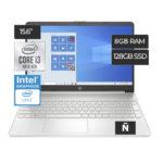 HP CORE i3 1005G1 8GB SSD128GB TECLADO EN ESPAÑOL 15,6″HD