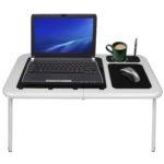 Mesa para notebook con cooler muy practica plegable